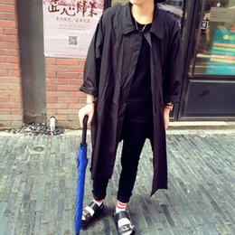 Wholesale Spring Trench Coats For Men - Fall-2015 men's jacket Super Hot Spring&Autumn Fashion Coat Korean Style Casual Cotton Stand Collar Long Trench For Male Popular