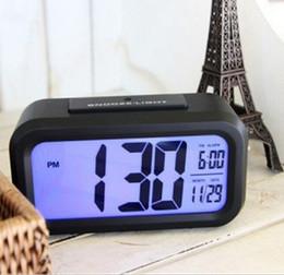 Wholesale Table Temperature Display - free shipping LED Alarm Clock,despertador Temperature Sounds Control LED display,electronic desktop Digital table clocks