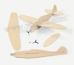 Wholesale Airplane Drawings - Wholesale-12PCS LOT.DIY & Handpainted propeller fighter,Children's hand-painted wood airplane,Art toys,Art material,Birthday