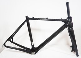 Wholesale Carbon Fiber Disc Frame - Wholesale-BSA Carbon Cyclocross Frameset Full Carbon Fiber Cyclocross Bike Frame Disc Brake