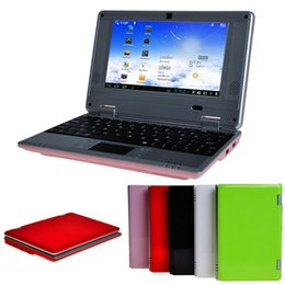 Wholesale 8gb Ram Laptop Computers - Cheaper 7 inch VIA8880 Mini netbook computer Dual Core Android 4.2 512MB Ram 8GB Rom ultrabook with Webcam wifi