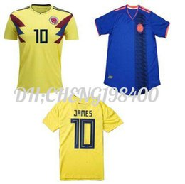 Wholesale Cheap Football Team Shirts - World Cup 2018 Camisetas de Futbol Colombia Cheap Low price Best Thai Quallity soccer jerseys 2018 JAMES national team football shirt