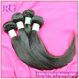 Wholesale Grade 5a Indian Hair - Straight Indian virgin hair weaving 5A grade unprocessed human hair extension 4pcs lot Indian hair Free shipping