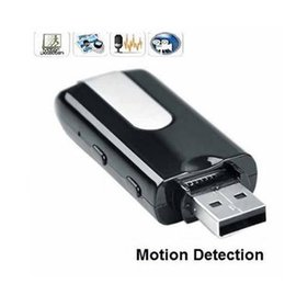 Wholesale Dvr U8 - Mini Spy Cameras DVR U8 USB Disk Silver Blue Hidden Camera DVR With Motion Detect Camera Camcorder