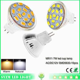 Wholesale 12 Volt Led Spotlights - led bulb glass cup light AC DC 12 volt 7W warm natural whitem MR11 spotlight bright light lamp for indoor lighting