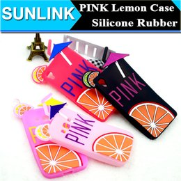 Wholesale Drink Phone Case - PINK Lemon Fruit Drinks Phone Cases Silicone Rubber Soft Back Cover For iPhone 5 5S 6 6S Plus Samsung Galaxy S6 EDGE J1 A3 A5 LG G4 Sony M4