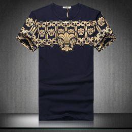 Wholesale Slim Tshirt Men - Euro Vintage Print tshirt Men Short Sleeve Slim Fitness Mens t Shirts Fashion 2016 Summer Designer Brand Tee Shirts Plus Size