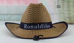 Wholesale Free Delivery Logo - Wholesale-Custom Straw hat with your logo promotional sun hat with logo corporate gifts giveaways free shipping, short delivery time