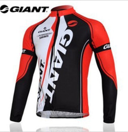Wholesale Bicycle Giant Jersey Long - Wholesale-portswear giant long sleeve cycling jersey bike jersey cycling wear clothes bicycle bike only long jersey