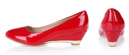 Wholesale Custom Wedge - Candy color with with small slope work shoes custom 28-33 code oversized 40-48-52 singles shoes
