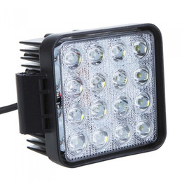 "Wholesale Waterproof Led Lights For Atv - 4.5"" 48W 16 Led Working Light Square Car Work lights Spot flood Beam 10V~30V For Truck Jeep ATV Boat Waterproof IP67"