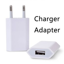 Wholesale Retail Head - USB Chargers Adapters Fast Charging Head European Regulations 5V 1A Portable Power Adapter with Retail Package