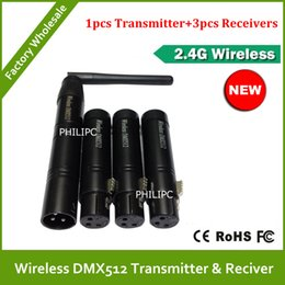 Wholesale Dmx Transmitters - DHL Free Shipping 2.4G Mini Wireless DMX Controller Wireless DMX512 Transmitter And Receiver DMX Light Controller