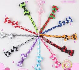 Wholesale Chevron Baby Ties - Baby chevron zig zag neck tie baby kids children ties neck tie ties Boys Girls tie with curve style bow tie bowknot tie satin tie wave BY000