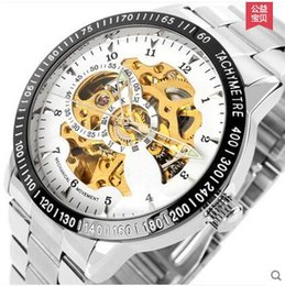 Wholesale Mechanical Dragon Model - 2015 explosion models double-sided hollow automatic mechanical watches, dragon through the end of the male form, user-friendly design!Love!