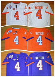 Wholesale Wholesale Men S Basketball Shorts - Clemson Tigers DeShaun Watson 4 Diamond Quest College Football Jersey Men's Stitched Logo High quality jersey,Size S-3XL,Can Mix Order