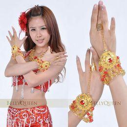 Wholesale Belly Dance Gifts - Small diamond bracelet ring finger belly dance bracelet bracelet hand   wrist ornaments Dance Jewelry