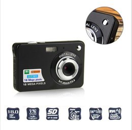 Wholesale Tft Camcorder - C3 Ultra-thin Card Digital Camera 18 Mega Pixels 2.7 Inch TFT LCD Screen CMOS Children Kids Gift Camcorder Sports Mini Camera