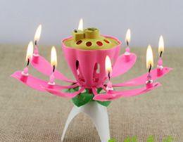 Wholesale Music Lotus Flower Birthday - Beautiful Birthday Gift Flower Music Candle Flower Music Candle Lotus Music Candle New Lotus Music Candles Lotus Petal For Birthday party20