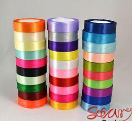 "Wholesale Decoration Satin Cloth - 1"" single face polyester Ruban satin ribbon 25mm Next cloth tape ribbons party decoration sewing supplies 250yard  lot"