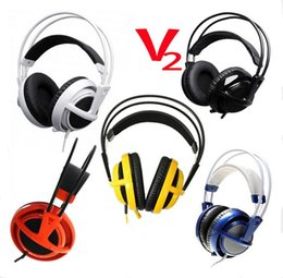 Wholesale High Quality Professional Gaming Headphones - High Quality Professional Game Headset Steelseries Siberia V2 Full-Size Gaming Headphone Fast Free Shipping With retail Box
