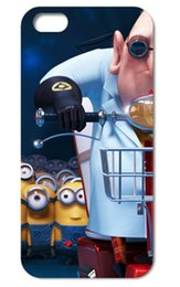 Wholesale Despicable Iphone 4s Cover - Wholesale-2015 New Fashion Despicable Me Yellow Minion Design Characters Case cover For iphone 4 4S 5 5s