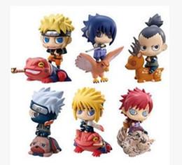Wholesale naruto sasuke figures - Wholesale-6pcs Set 7CM Anime Naruto Kakashi Watergate crisis Sasuke Action Figures Toys Funko POP Model collectible brinquedos