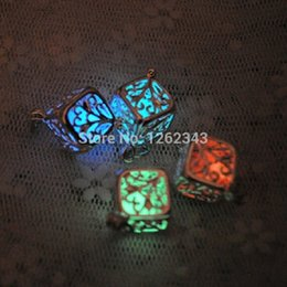 Wholesale Silver Dust Plug - Wholesale-2015 European 1pcs 925 silver jewelry Cube tree glow in the dark match Dust Plug Universal 3.5mm Cell phone plug charms