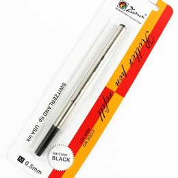 Wholesale Picasso Rollerball Pen - Wholesale-5 PCS Picasso Rollerball Pen Refill 0.5 Black USA Ink Refill