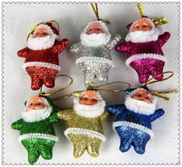 Wholesale Christmas Decorations Small Hanging - new Christmas Decorations Little Santa Claus Gifts Small Old Man Hang Christmas Decoration Supplies free shipping