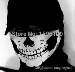 2019 videospiel requisiten Neue Halloween Schädel Skeleton Outdoor Motorrad Fahrrad multifunktions Headwear Hut Schal Halbe Gesichtsmaske Cap Neck Ghost Schal A3