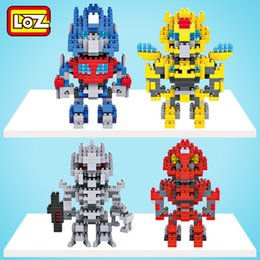 Wholesale Transformer Toy Wholesale - Diamond DIY creative building blocks toy Mini nano diamond block transformer style plastic building blocks figures educational toys For boys