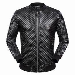 Wholesale Genuine Leather Jackets Sale - 2018 Autumn Winter Hot Sale Long Sleeve Genuine Leather Jacket Casual Fashion Hip Hop Luxury Man Jacket Clothing #9076