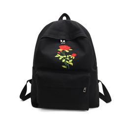 Wholesale Rose Cashmere - 2017 Fashion Women Rose Embroidery Vintage Canvas Backpack Female Teenagers School Backpacks Travel Bag Girl Casual La Mochila