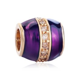 Cuentas faberge online-Joyas de mujer personalizadas Estilo europeo Faberge estilo multicolor esmalte de cuentas de cristal encantos de la suerte se adapta a la pulsera del encanto de Pandora
