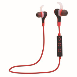 Wholesale Cell Phone Hands Free Headset - Bluetooth 4.0 Wireless Sport Headphones Sweatproof Stereo Bluetooth Earbuds Earphones Hands-free Headsets with Microphone free shipping