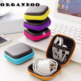 Venta al por mayor-dulces portátiles colores anti-presión de auriculares mini caja de almacenamiento cuadrado cargador de teléfono celular cable de datos cremallera organizador bolsa de viaje desde fabricantes