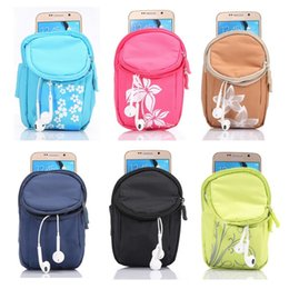 Wholesale Handbag Sports - Zipper Multifunctional Casual Handbags Sports Bag Cluches Purses Cell Phone Pouch for Samsung S6 Edge and other Smart Phones 6s Nylon Bags