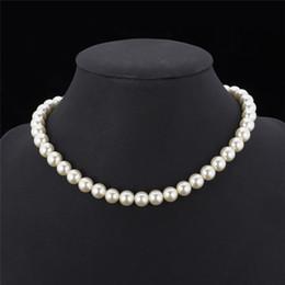 2019 rosario di cristallo bianco Collana di perle sintetiche di alta qualità per le donne 2015 Nuova collana di perline di lusso bianco / nero ridimensionabile alla moda