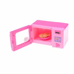 Wholesale Girls Play Kitchen - Wholesale- 1pcs Lovely Educational Toy house toys Children Girls Toy Microwave Kitchen Pretend Play Good Packing