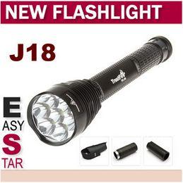 Wholesale Trustfire Mini Xml T6 - FS!Trustfire J18 TR-J18 SUPER BRIGHT LED Flashlight,8000 LM, 7* CREE XML T6 High Power Torch For Camping Hiking