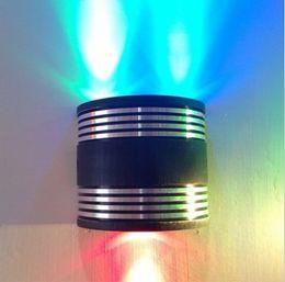 Canada 10pcs / lot Brand New 3W LED appliques murales Decor Fixture Lights Hall Porch Gallery KTV lampe ampoule applique murale Track LED lampes Offre