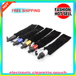 Wholesale Pen Rope - eGo Ecig storage black Bag pen E Cigarette Carrying Pouch Pocket Sling Rope Round Corner Case Bag For Ego E Cigarettes eGO ce4 Cheap Price