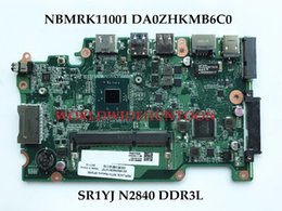 Wholesale Acer Laptops Support - High quality For ACER Aspire ES1-111 Laptop Motherboard NBMRK11001 DA0ZHKMB6C0 SR1YJ N2840 DDR3L 100% Fully Tested