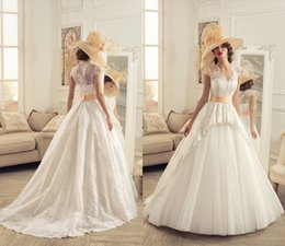 Wholesale Sweetheart Court Sleeve Ivory - Fashion A-Line Wedding Dresses 2015 Sweetheart Neck Ivory Tulle Cap Sleeves Appliques Covered Button Back Custom Court Train Bridal Gowns