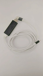 Wholesale Ipad Iphone Vga - HDMI Cable Multimedia Television 1800mm HDTV Cable 2 in 1 for Micro Smart phone and iPhone iPad with Audio