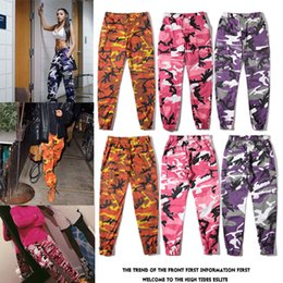 Wholesale United Tooling - GD Kris. Wu Europe and the United States tide high street street hip hop military wind street dance pants camouflage tooling trousers wild