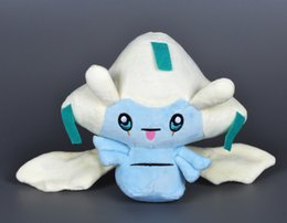 Wholesale Video Game Collectibles - 30pcs 20cm Pocket Monsters Jirachi Plush Toys Poke XY Jirachi Stuffed Dolls Cartoon Anime Jirachi Stuffed Collectibles Doll Toys For Kids