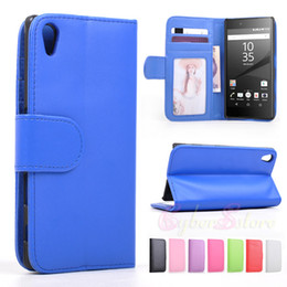 Wholesale Lg Pocket Photo - For Sony Xperia Z5 Wallet Phone Case Cover with Photo Frame Photoframe Card Slot Holder Money Pocket Pouch Phone