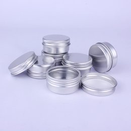 Wholesale Metal Lipstick Containers - 15g Aluminum Lip Gloss Container 15ml Lipstick Box Metal Storage Jar Cosmetic Packaging Sample Box ZA5537